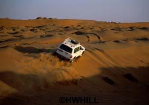 Allrad-Auto bei Dünenfahrt